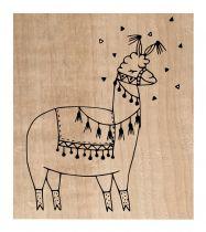 Tampon bois Lama mr Alpaga