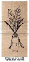 Tampon Bois Plume fleurie