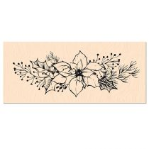 TAMPON BOIS WOODLAND - Fleur de Poinsettia
