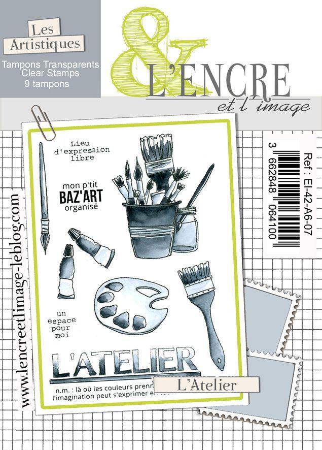 Tampon clear - L\'Atelier - L\'Encre et l\'Image