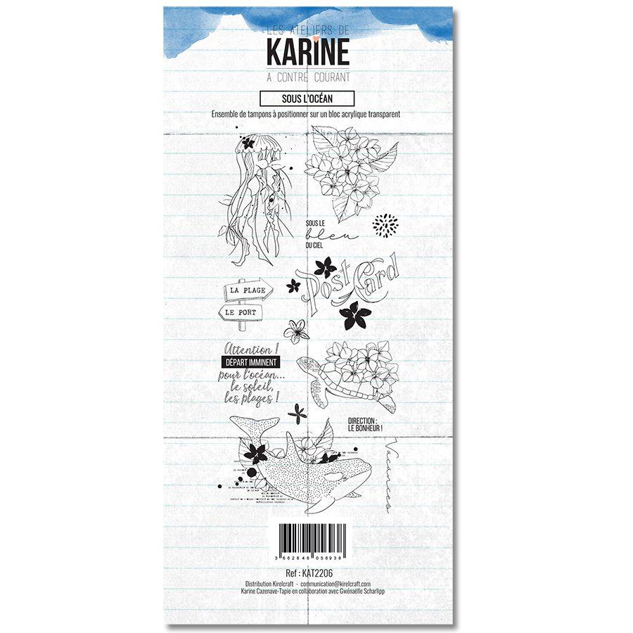Tampon clear A contre courant Sous l\'océan - Les Ateliers de Karine