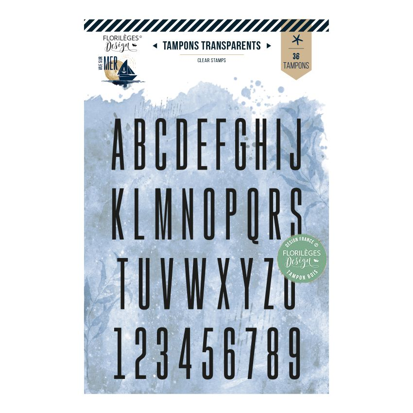 Tampon clear ALPHABET FIN