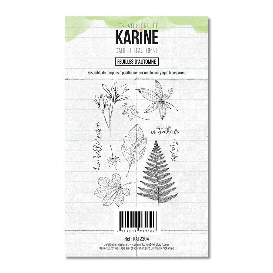 Tampon clear Feuilles d\'Automne 10 motifs- Les Ateliers de Karine