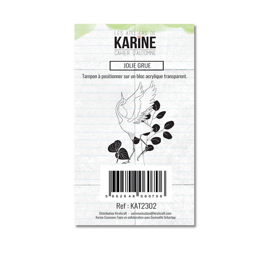 Tampon clear Jolie grue 1 motif- Les Ateliers de Karine