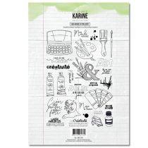 Tampon clear Mon monde en couleurs 28 motifs- Les Ateliers de Karine