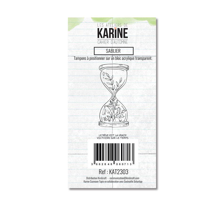 Tampon clear Sablier 2 motif- Les Ateliers de Karine