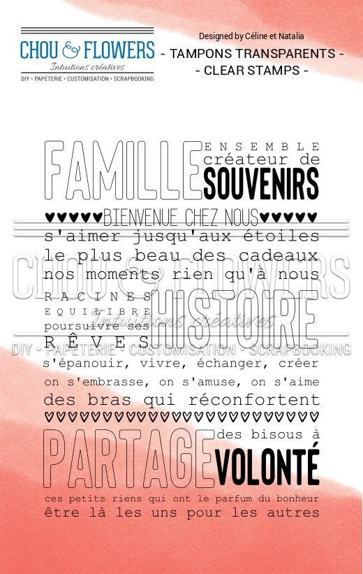 TAMPON TRANSPARENT - Affiche Famille