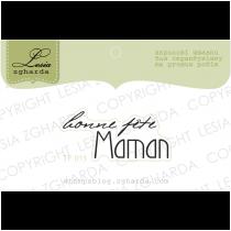 TAMPON TRANSPARENT - Bonne Fête Maman