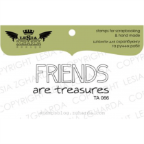 TAMPON TRANSPARENT - Friends are Treasures
