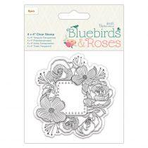 TAMPON TRANSPARENT BLUEBIRDS & ROSES - Frames