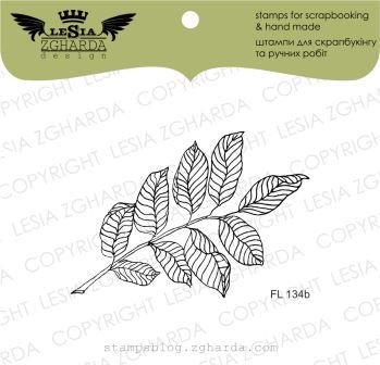 TAMPON TRANSPARENT BRANCHE AVEC FEUILLES - Branch with Leaves (Small)