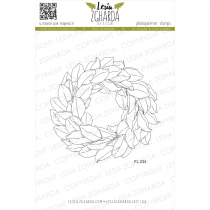 TAMPON TRANSPARENT COURONNE DE MAGNOLIA - Magnolia Wreath