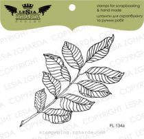 TAMPON TRANSPARENT FEUILLE - A Twig with Leaves Bigger