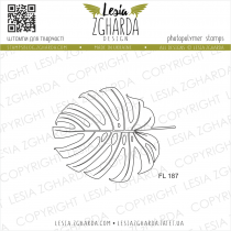 TAMPON TRANSPARENT FEUILLE - Leaf Monstera - Outline