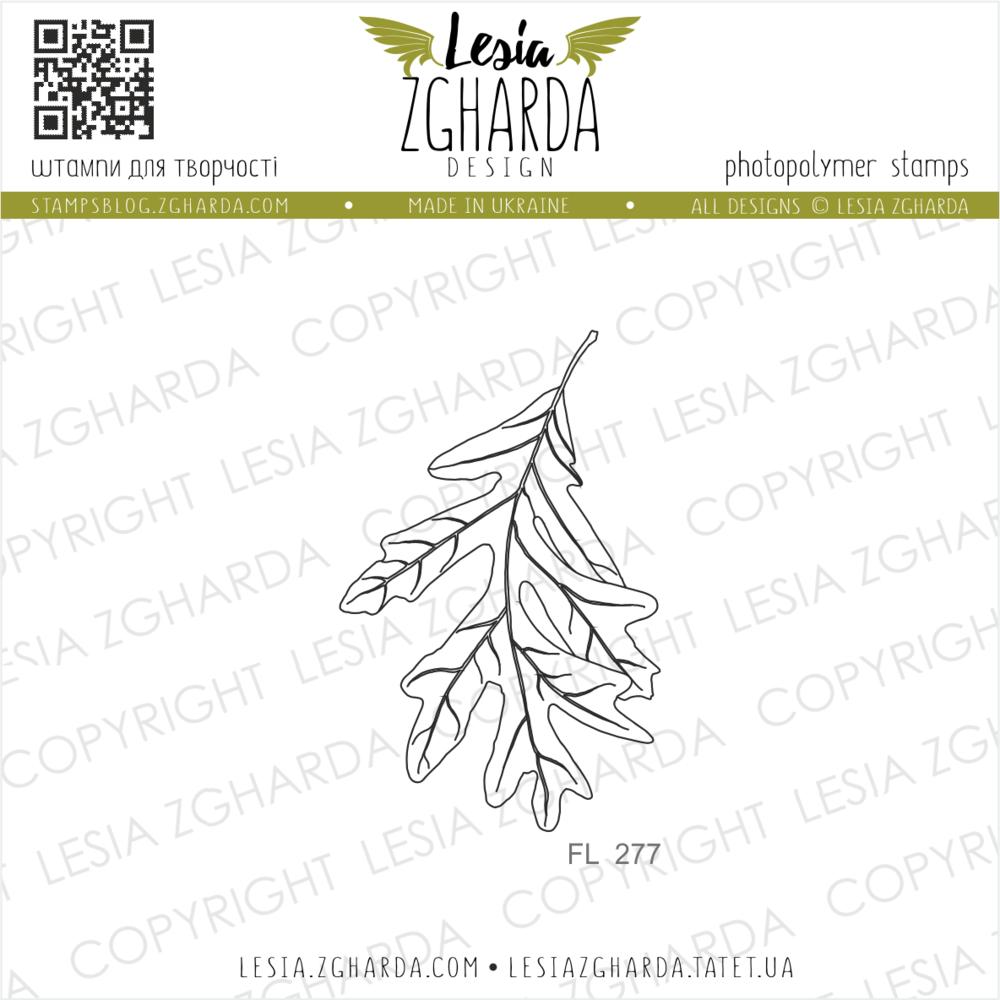 TAMPON TRANSPARENT FEUILLE - Oak Leaf
