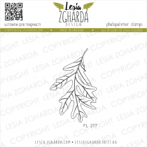 TAMPON TRANSPARENT FEUILLE - Oak Leaf