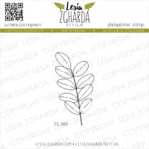 TAMPON TRANSPARENT FEUILLE D\'ACACIA - Leaf of Acacia
