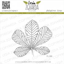 TAMPON TRANSPARENT FEUILLE DE CHATAIGNIER - Chestnut Leaf