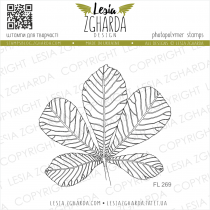 TAMPON TRANSPARENT FEUILLE DE CHATAIGNIER - Chestnut Leaf