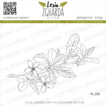 TAMPON TRANSPARENT FLEUR DE PRUNIER - Plum Blossom