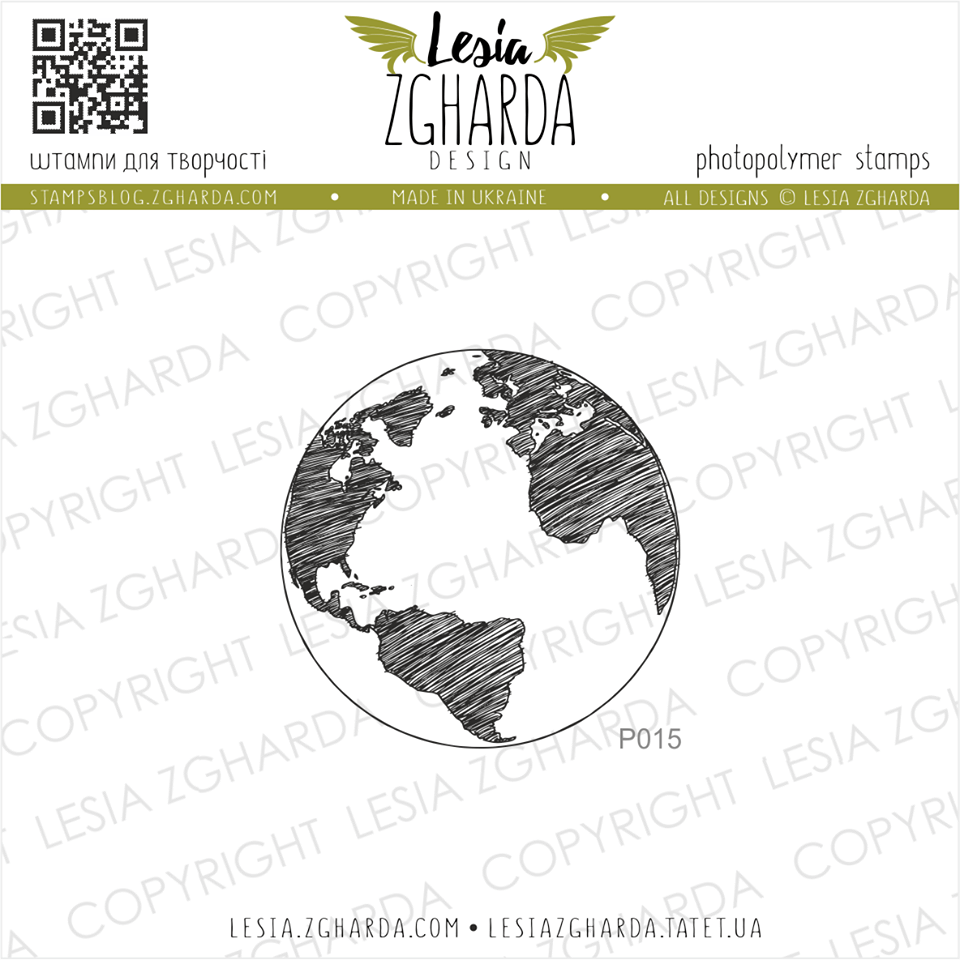 TAMPON TRANSPARENT GLOBE TERRESTRE - Earth