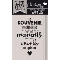 tampon transparent SE SOUVENIR AVEC TENDRESSE
