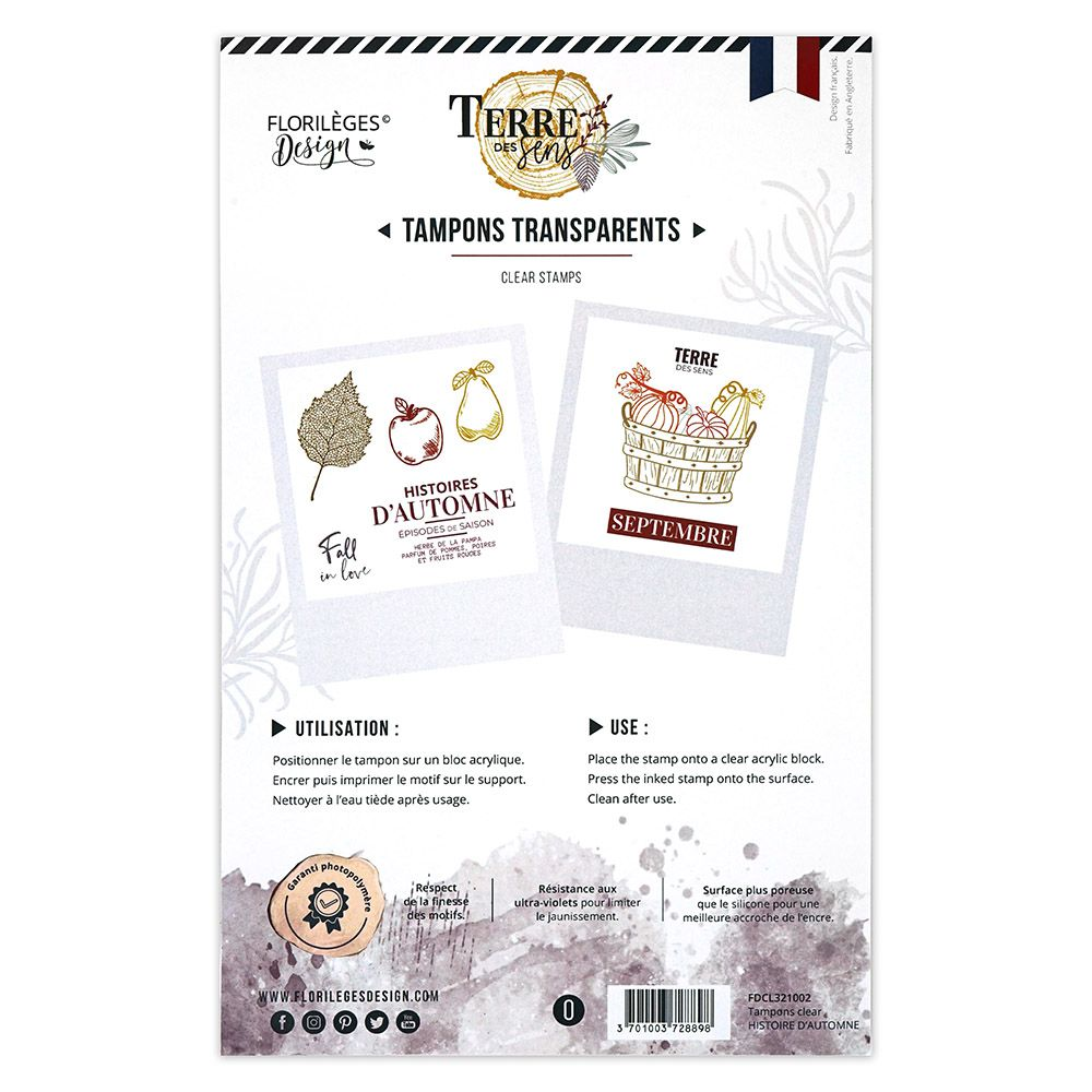 Tampons clear HISTOIRE D\'AUTOMNE