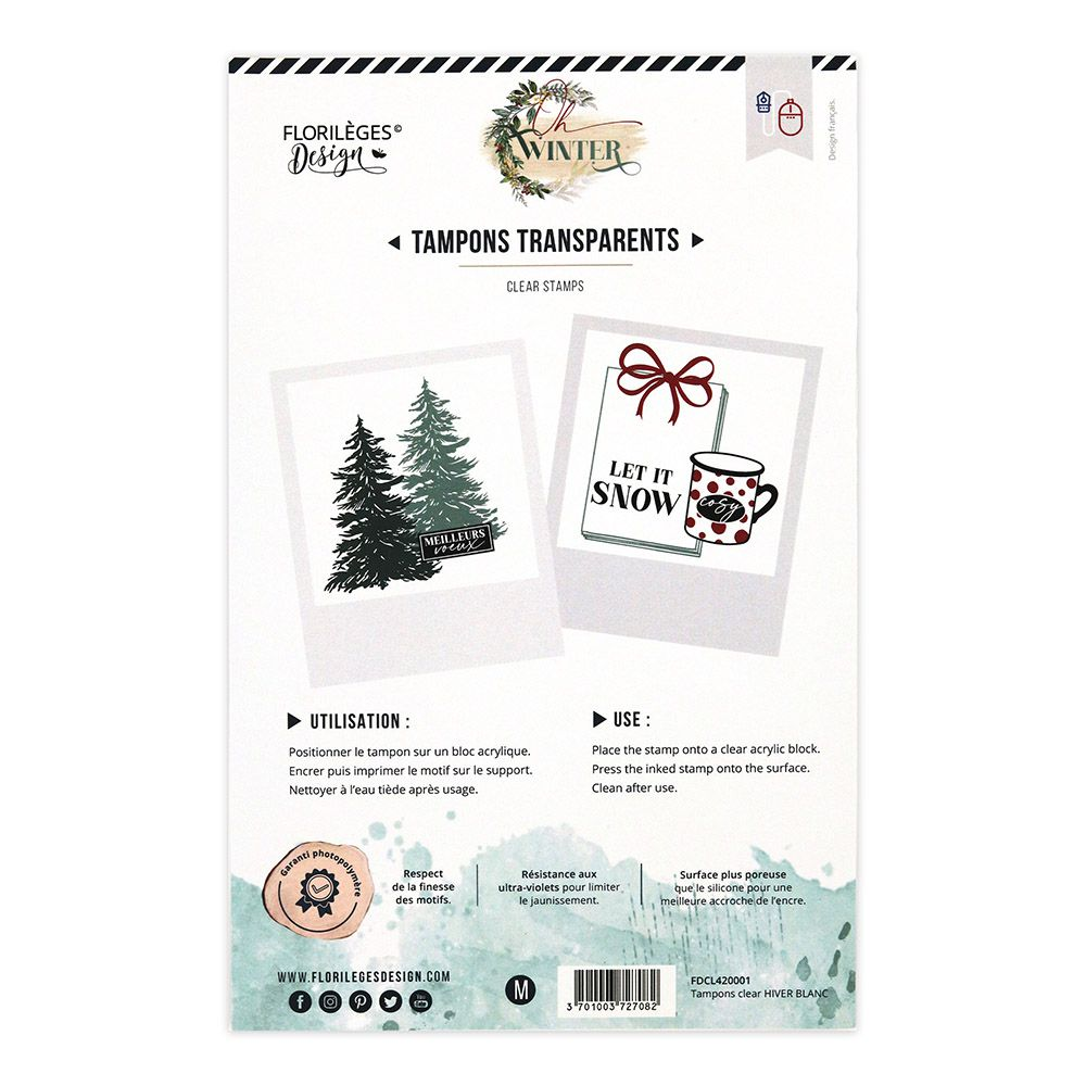 Tampons clear HIVER BLANC