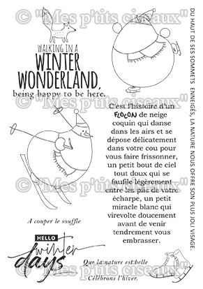 Tampons clear Winter Days - Mes Ptits Ciseaux