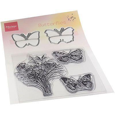 tampons transparents + dies butterflies