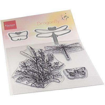 tampons transparents + dies dragonfly