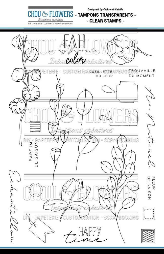 TAMPONS TRANSPARENTS - Fleurs d\'Automne