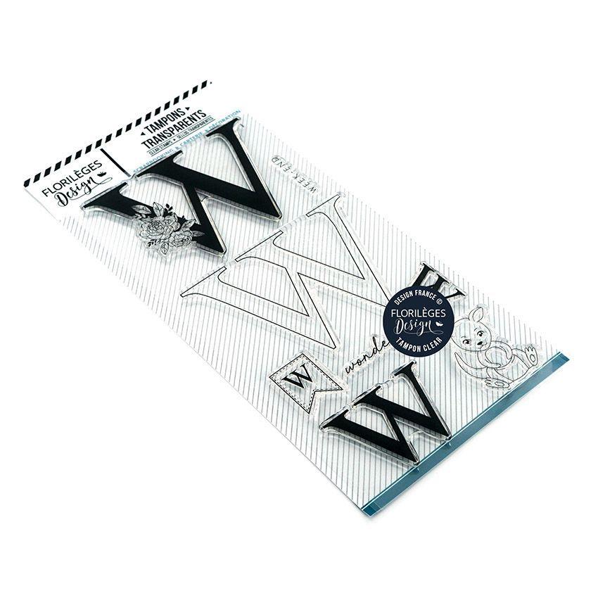 TAMPONS TRANSPARENTS - Lettre W