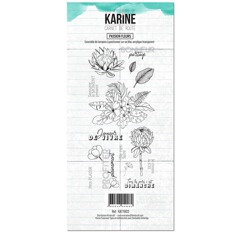 TAMPONS TRANSPARENTS CARNET DE ROUTE - Passion Fleurs