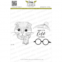 TAMPONS TRANSPARENTS CHAT DE NOEL - Set Christmas Cat