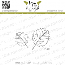 TAMPONS TRANSPARENTS FEUILLES - Set Leaves of Alder (Outline)