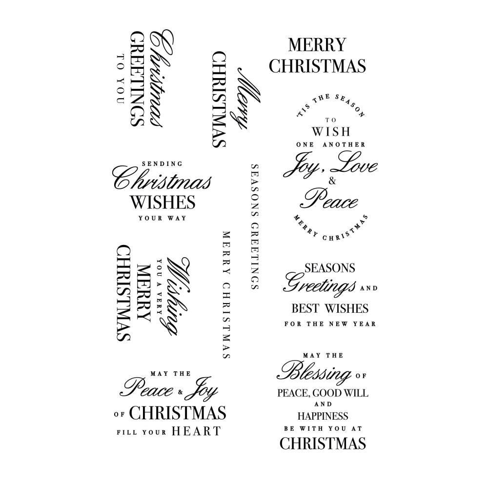 TAMPONS TRANSPARENTS NOEL - Christmas Greetings