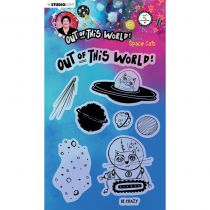 Tampons transparents Out of this World - space cats