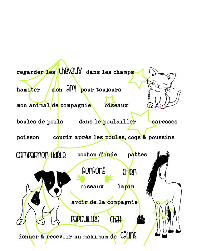 TAMPONS TRANSPARENTS PHRASES ANIMAUX