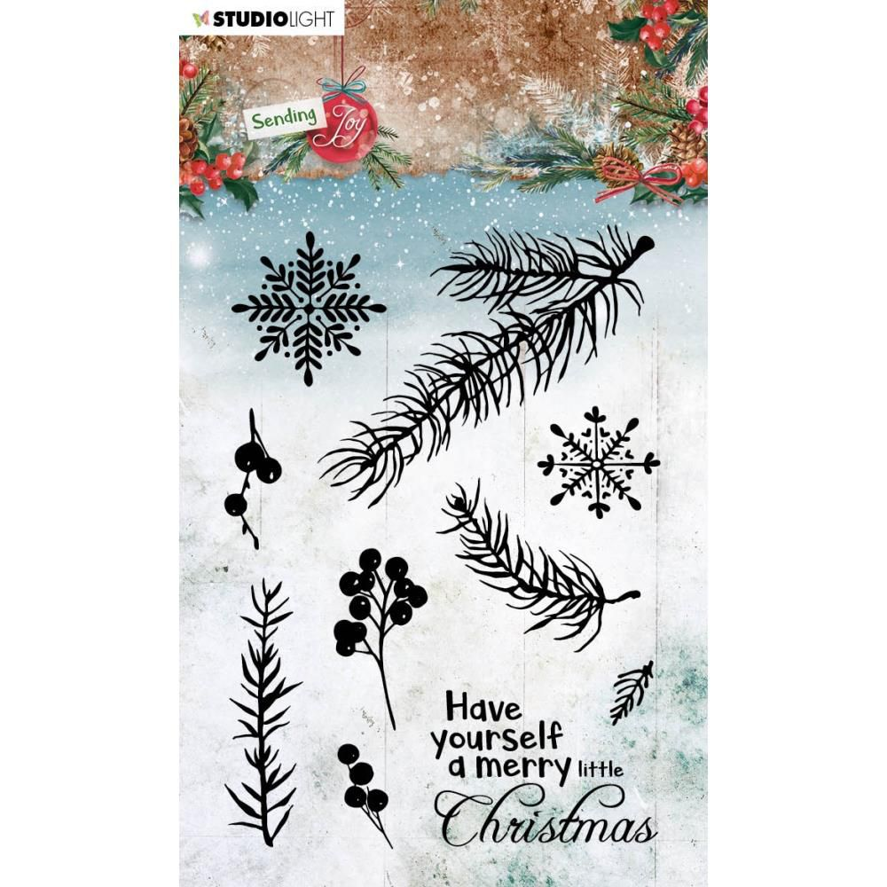 Tampons transparents Sending Joy NR. 51, Branches & Berries
