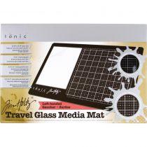 TRAVEL GLASS MEDIA MAT - Left-Handed