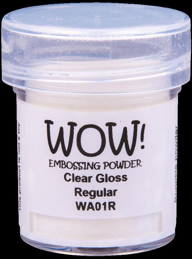 WA01 Clear Gloss - Jar Size:15ml Jar, Grade Size:Regular