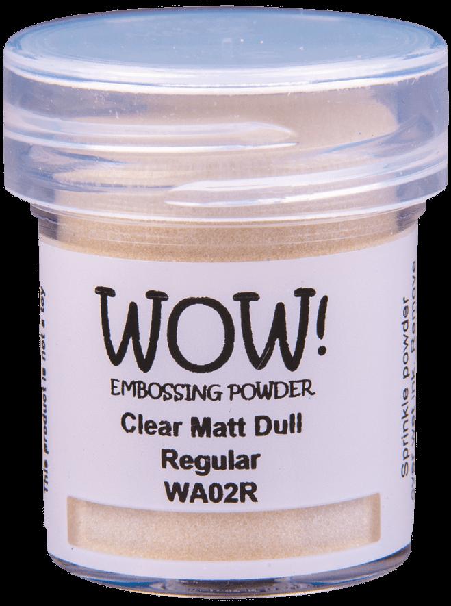 WA02 Clear Matt Dull - Jar Size:15ml Jar
