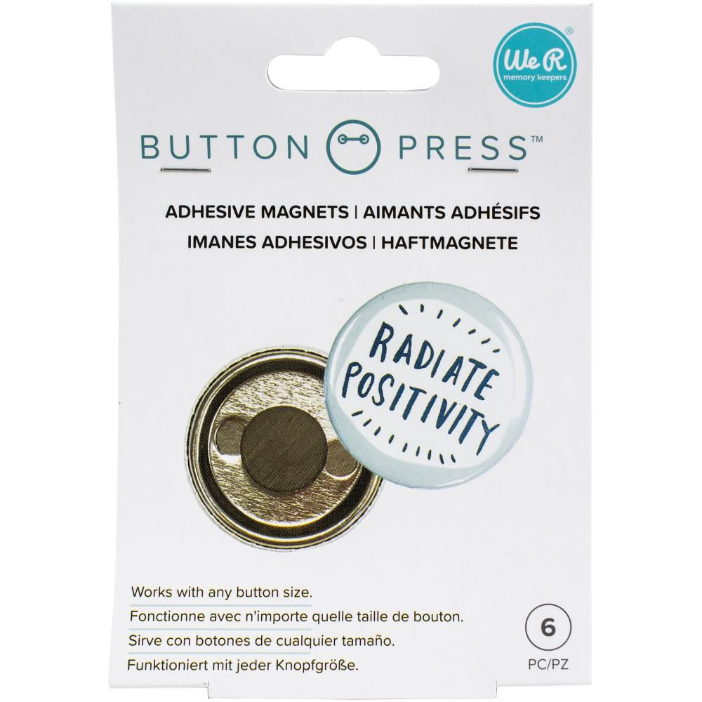We R Memory Keepers Button Press Adhesive Magnets 6/Pkg