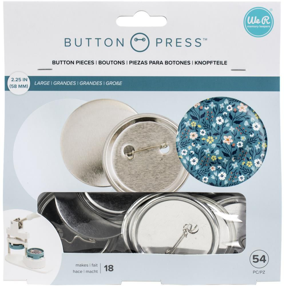 We R Memory Keepers Button Press Refill Pack 18/Pkg - Large (58mm)