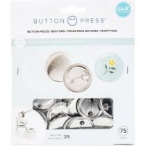 We R Memory Keepers Button Press Refill Pack 25/Pkg - Large (37mm)