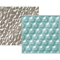 "We R Next Level Embossing Folders 6""X6\"" 2/Pkg Gemstone"