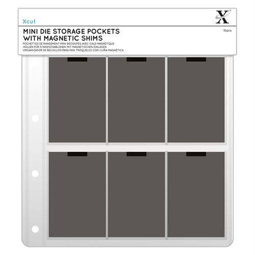Xcut Mini Dies Pochettes De Rangement Avec Feuilles Magnétiques (10pcs)